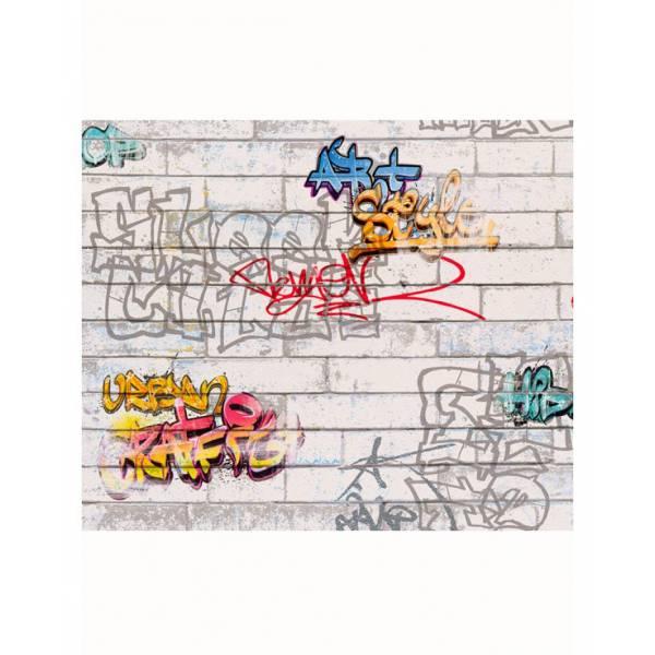 Graffiti Szürke Tapéta