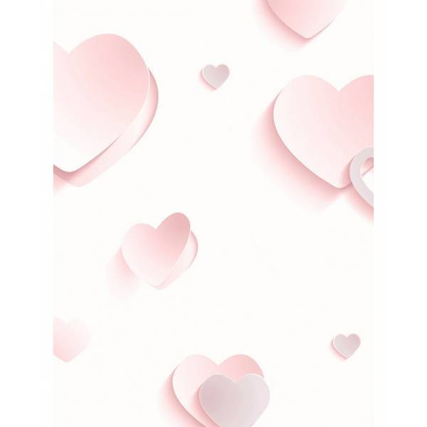 Szívecskés Rózsaszín Tapéták