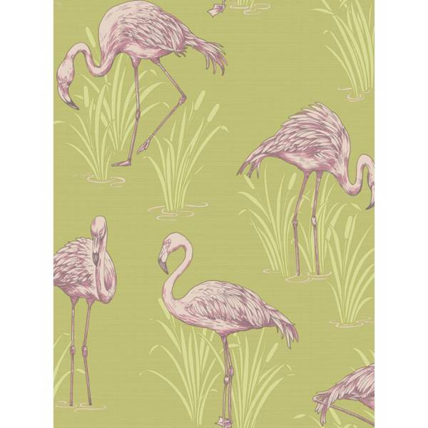 Green Flamingo Patterned...