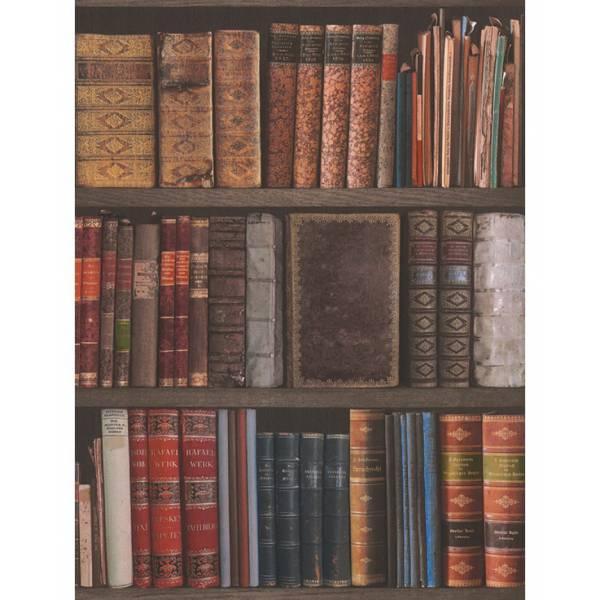 Elegáns  Könyvespolc Mintás Tapéta