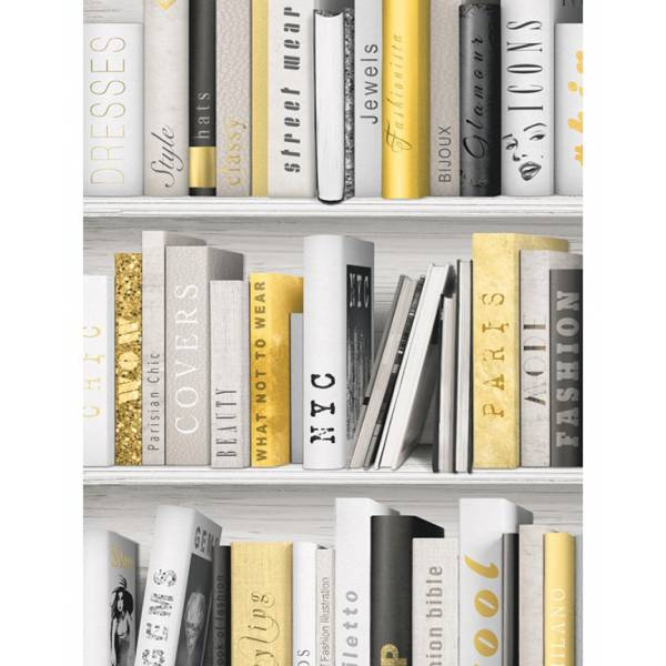 Arany Könyvespolc Tapéta