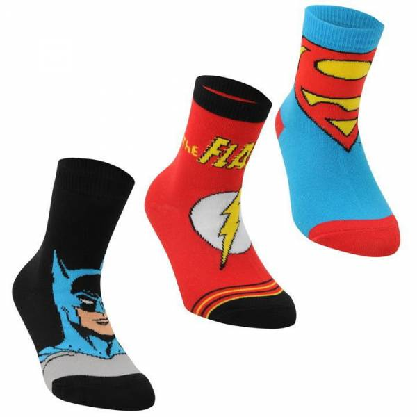 Superheroes Patterned Socks