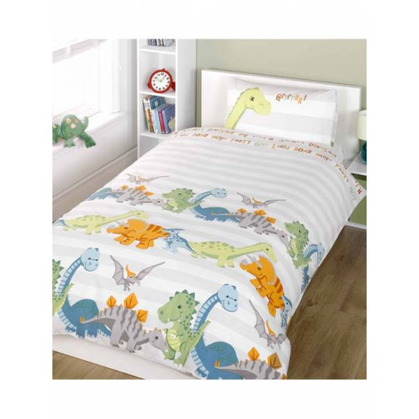 White Dino Junior Bedding
