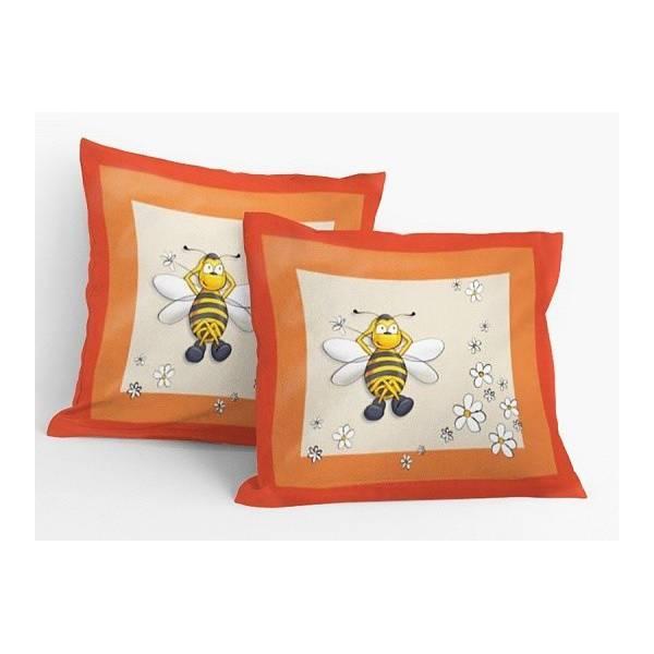 Méhecskés Citromsárga Párnahuzat