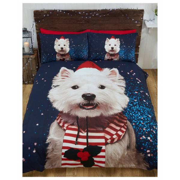 Westie Karácsonyi Ágynemű