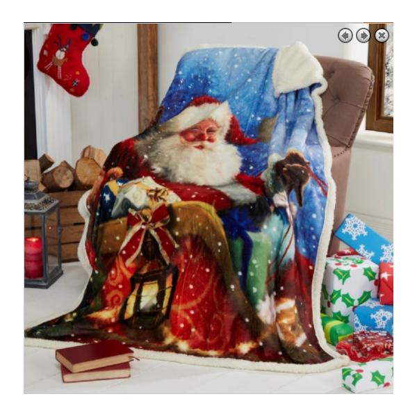 Nordic Print Bergen Christmas Throw Blanket - Grey