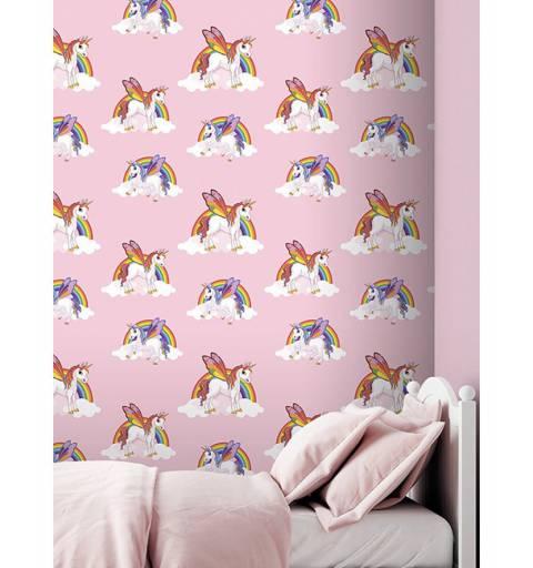 Unikornis Rózsaszín Tapéta
