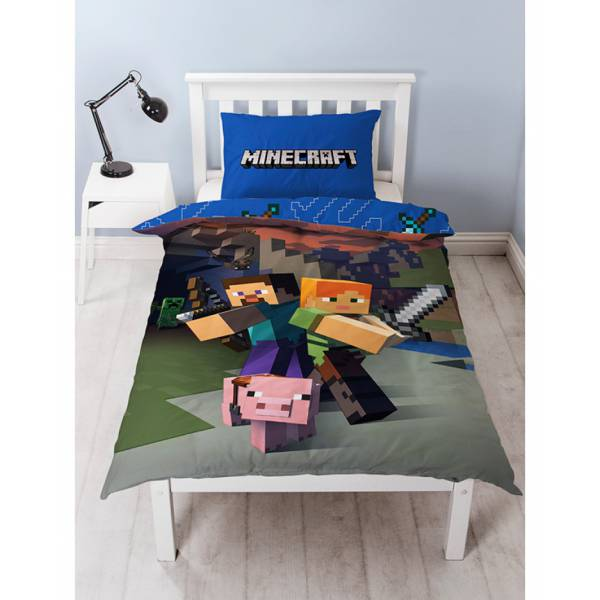 Minecraft Duvet Cover and Pillowcase Set 895a5ddfba