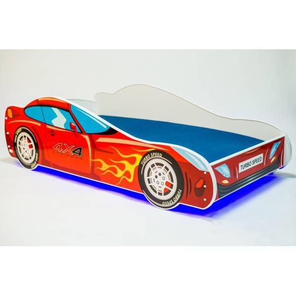 Turbo Speed Világítós Gyerek Ágy