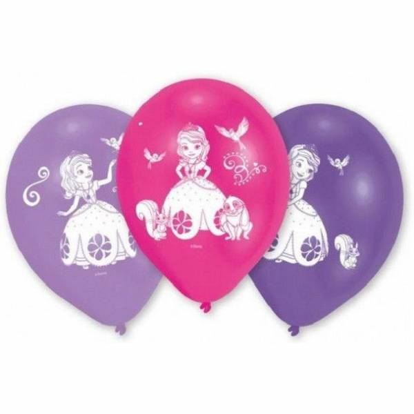 Disney Hercegnős Léggömb, Lufi 6 db-os