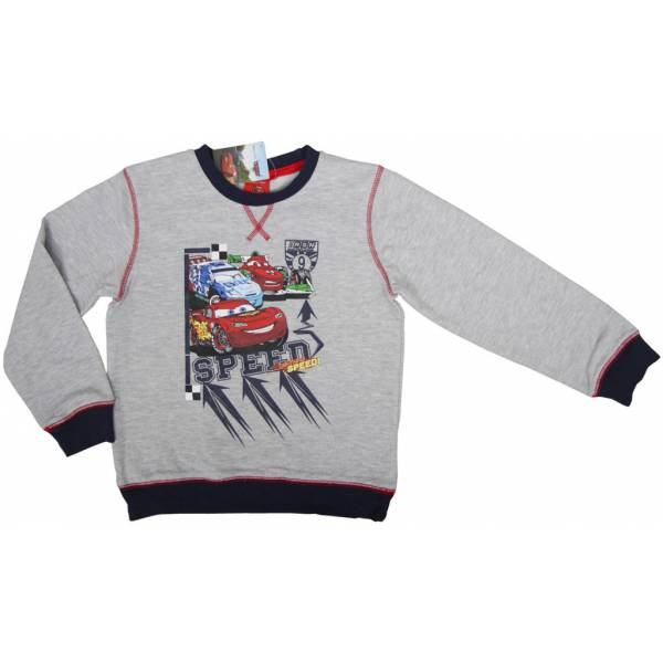 Cars Kids Gray Pattern Pullover
