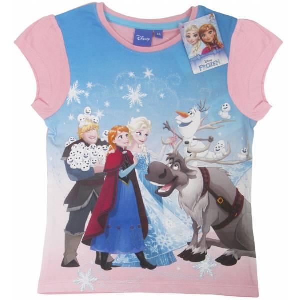 Disney Jégvarázs Rózsaszín Pamut Póló