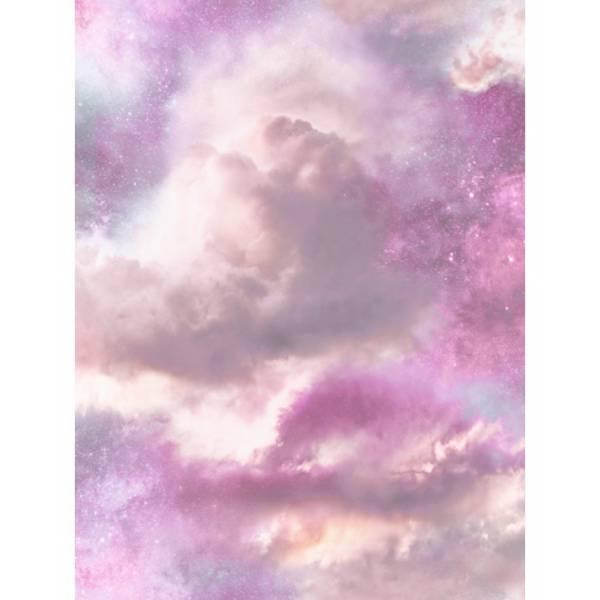 Felhő Mintás Lila Tapéta