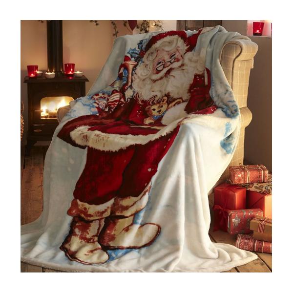 Santa Claus Christmas Blanket