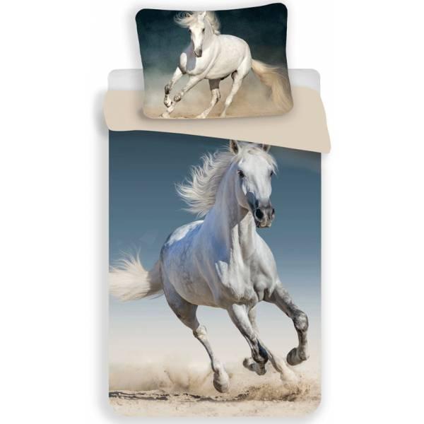 White Horse Cotton Bedding