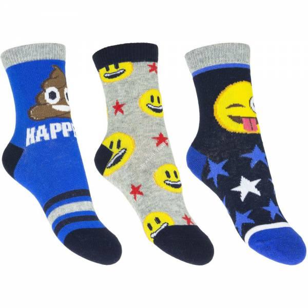 Emoji 3 darabos zokni szett