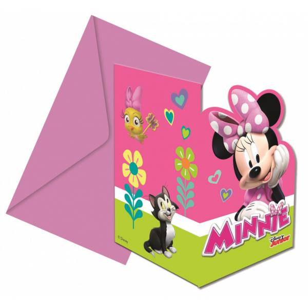Minnie Mouse Meghívó Borítékkal