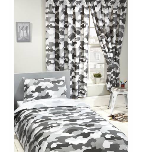Gray Military Curtain
