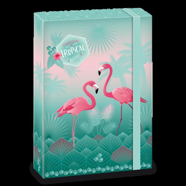 Flamingós füzetbox A/4