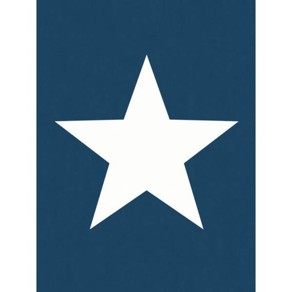 Kék / Fehér Csillag Mintás Tapéta
