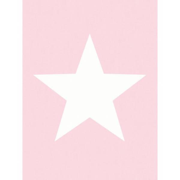Rózsaszín / Fehér Csillag Mintás Tapéta