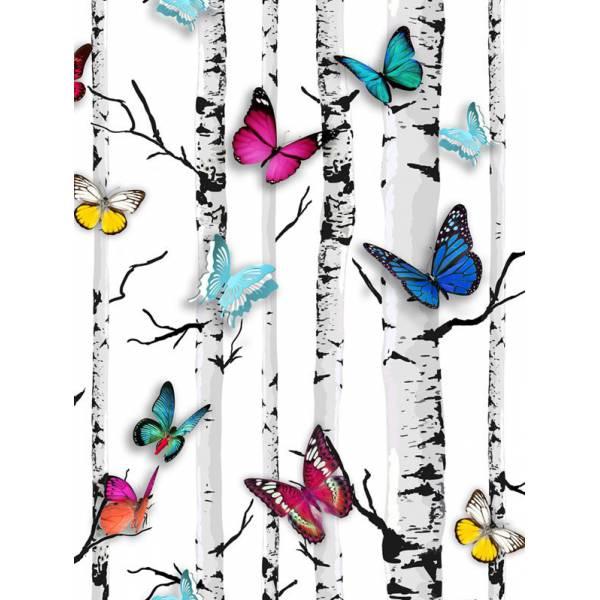 Színes Pillangós Tapéta