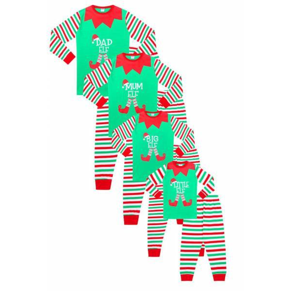 Elf Karácsonyi Családi Pizsama