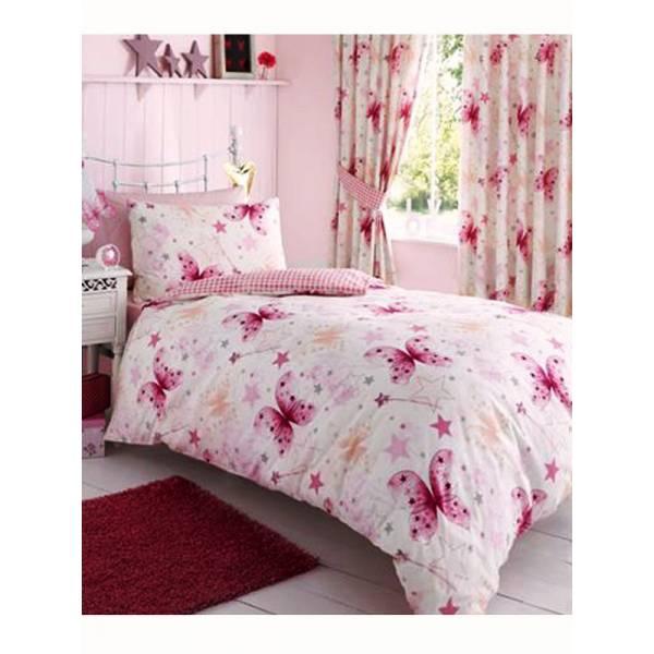 Rózsaszín Árnyaltú Pillangós Ágynemű