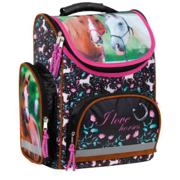 Horse Ergonomic School Bag with Magnet Lock