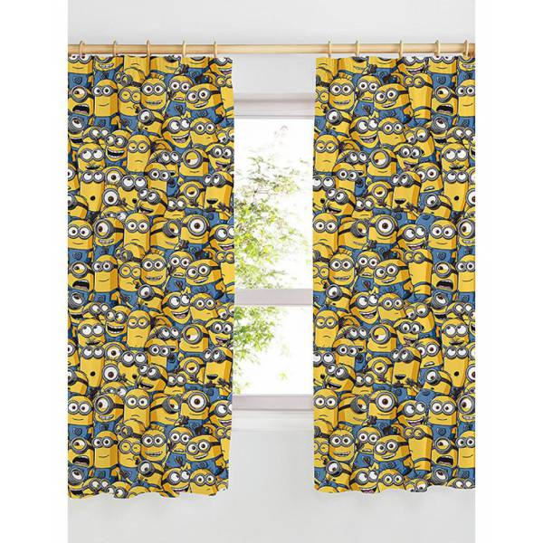 Minions Gray Curtain