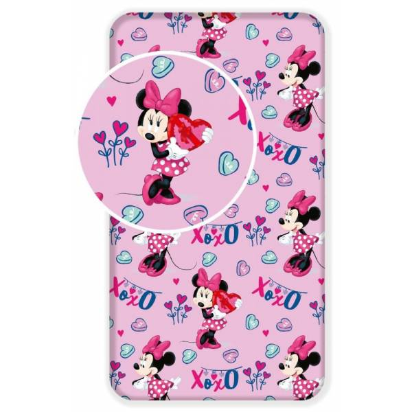 Mickey Mouse Pink Rubber Sheet