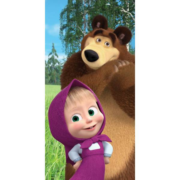 copy of Masha and Bear Towel