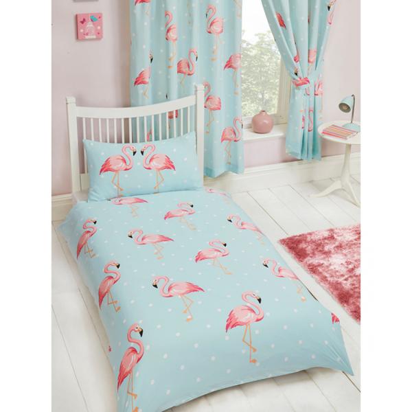 Flamingós Kék Ágynemű