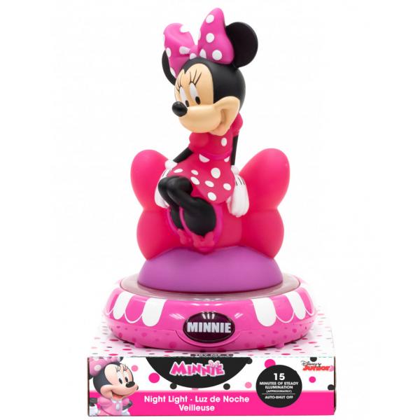 Minnie Mouse 3D Éjjeli Lámpa