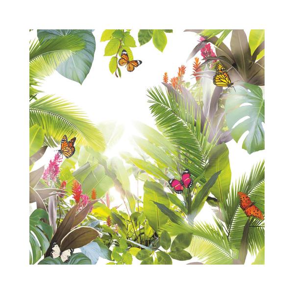 Trópusi Leveles Mintás Tapéta
