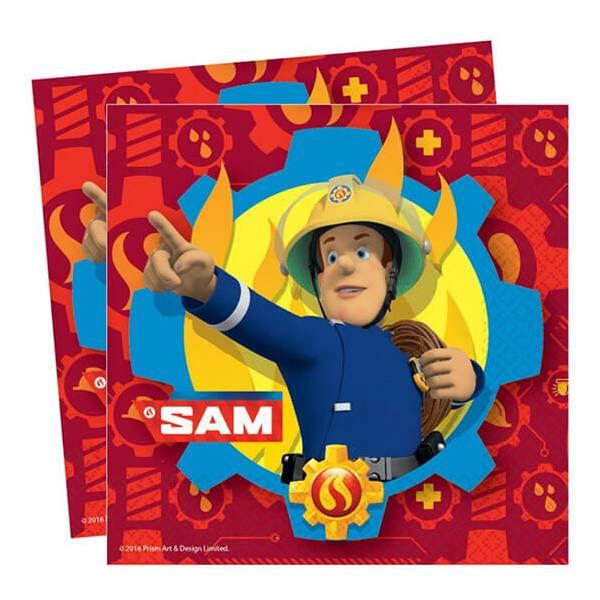 Sam a Tűzoltó Parti Szalvéta