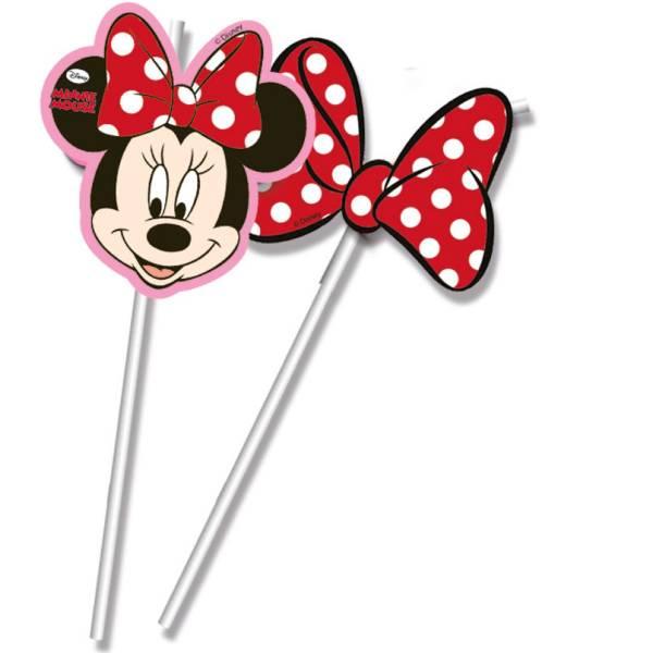Minnie Mouse Szívószál 6 db