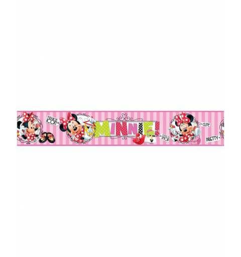 Minnie Mouse-Bordűr (rózsaszín)