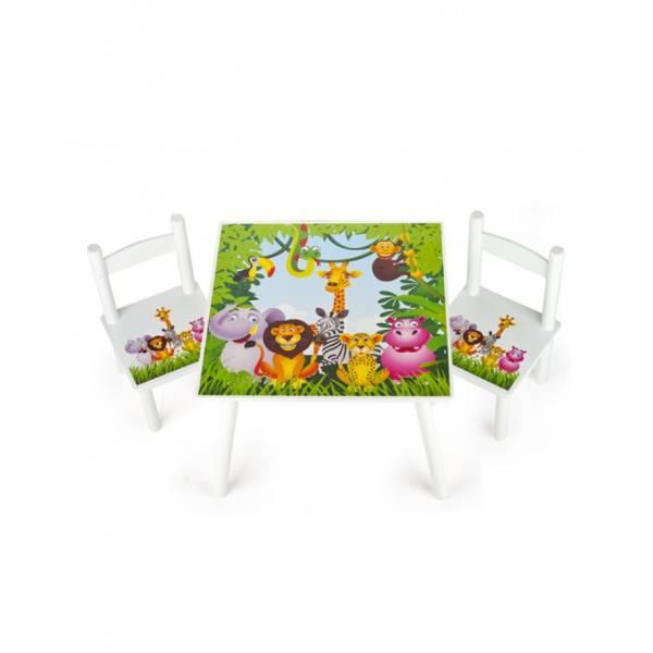 Dzsungel- Asztal+székek