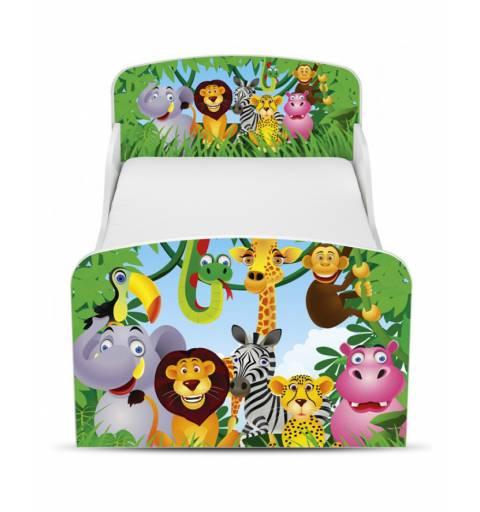 Dzsungel - Ágy  (ágyneműtartós)