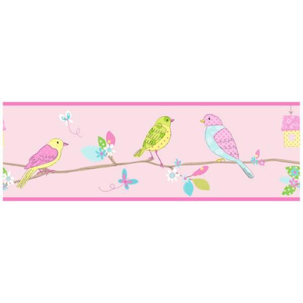 Birds Pink Tree Bordure