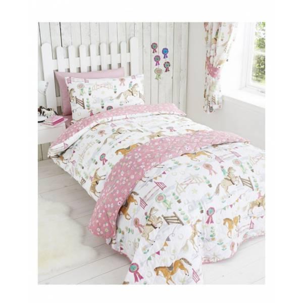 Children Pink Horse Bedding